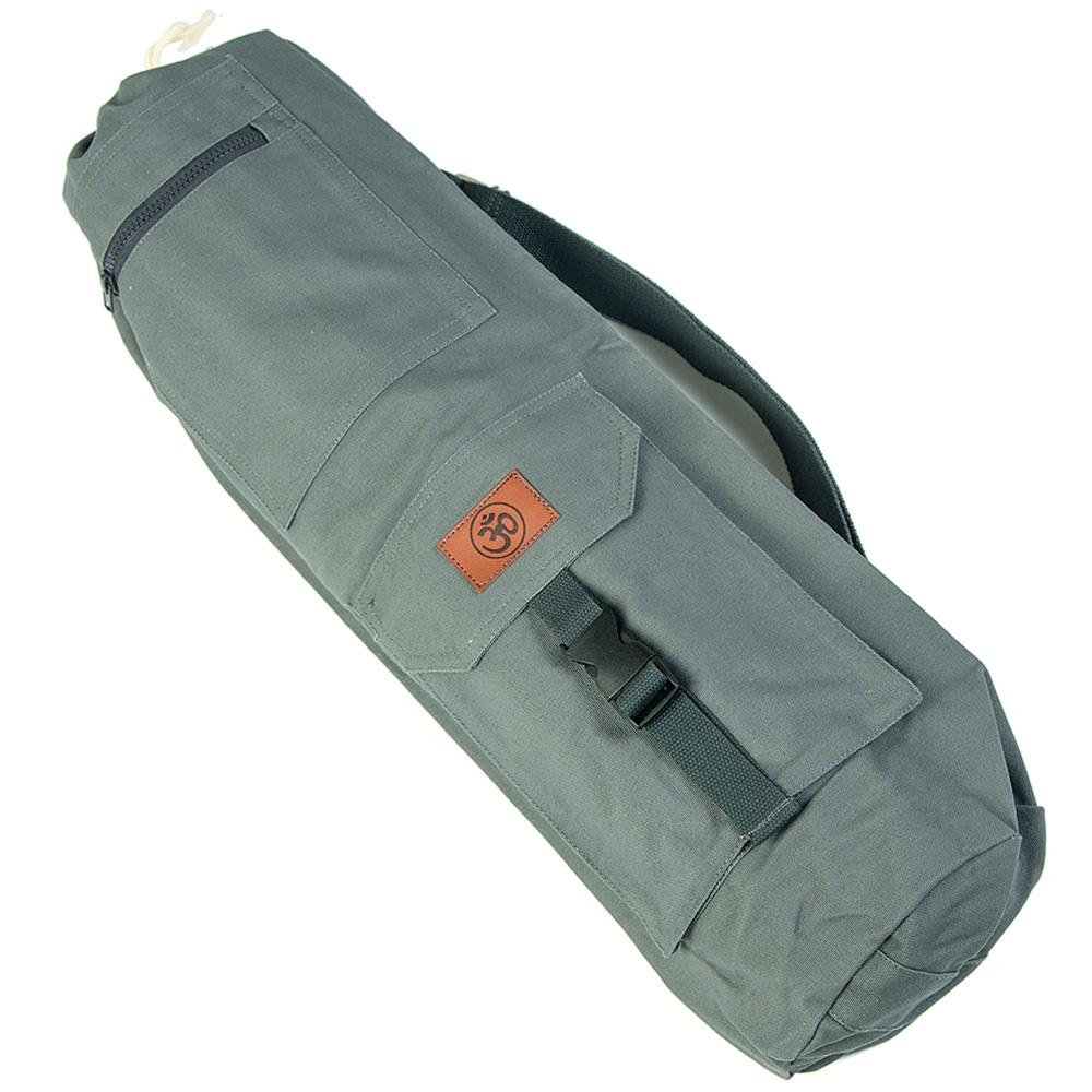 Хлопковая сумка для коврика Сутра серая