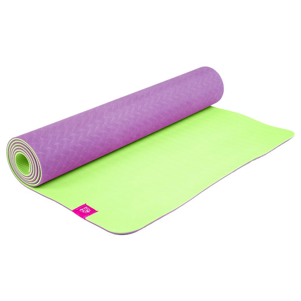 """Коврик для йоги """"Инжир"""" фиолетово-зеленый"""