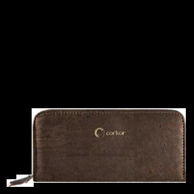 Corkor женский кошелек из пробки на молнии