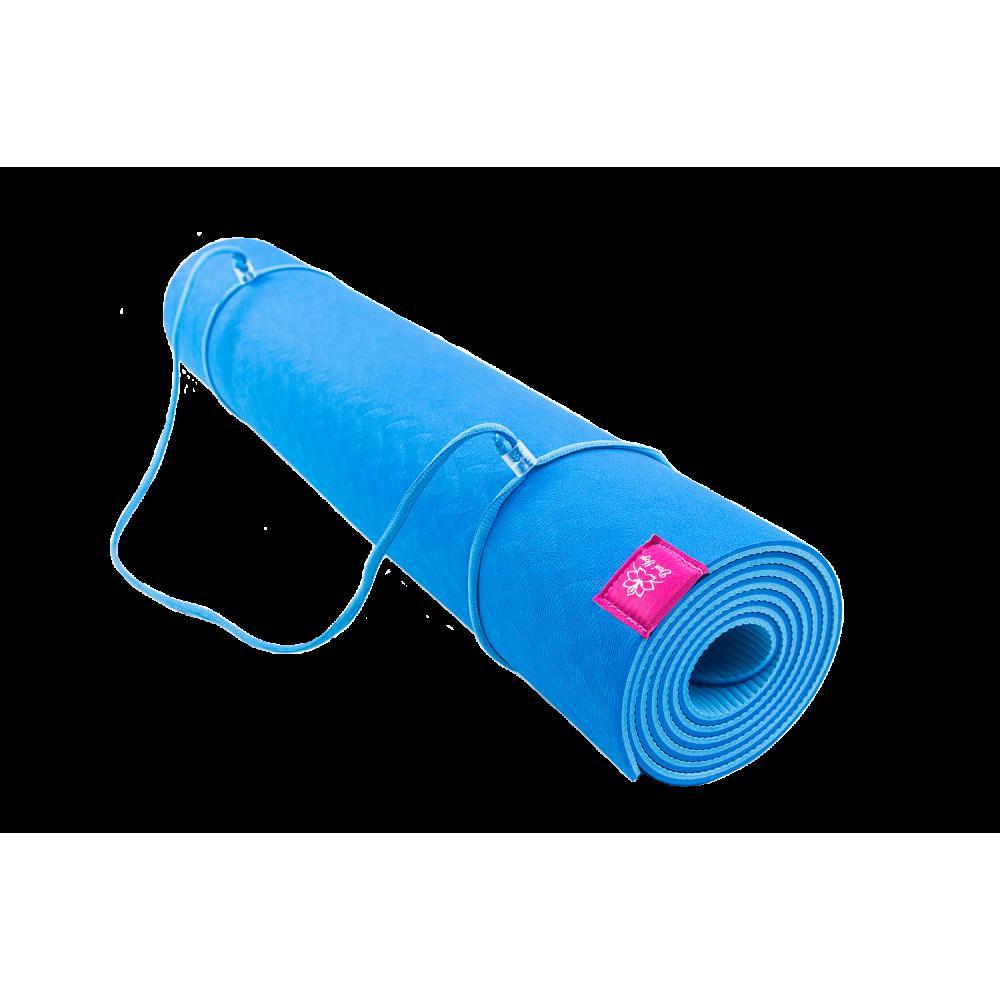 Коврик для йоги Голубика (сине-голубой)