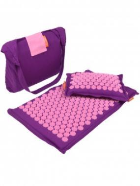 Набор массажный коврик и подушка Comfox Premium фиолетовый