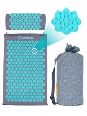 Набор массажный коврик и валик Comfox серый