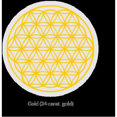 Стакан MYTHOS с золотым цветком жизни, 0.25 л