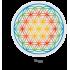 Стакан Jasmina 0.3 л с радужным цветком жизни