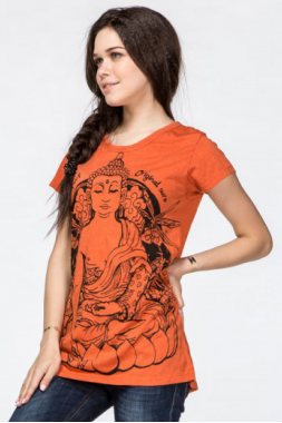 Оранжевая футболка Будда.